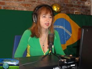 """Элла Teтельбойм в качестве гостя на бразильском радиошоу """"7 Alegria do Povo"""""""