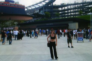 На Стадионе «Gillette» во время футбольной игры АС Милан против Интер Милан, 2009