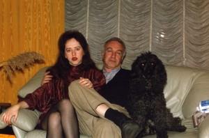 Элла с писателем и издателем Альфредом Тульчинским