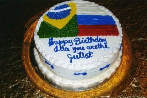 Элле в день рождения от бразильских почитателей её таланта, 2010
