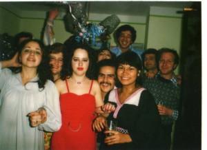 Элла со своими друзьями встречают Новый год,  Львовский медицинский институте, Украина