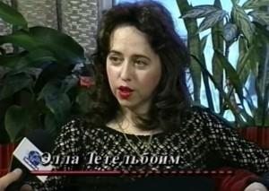 Интервью Эллы Тетельбойм с известным тележурналистом Дмитрием Полетаевым  (Русско-Американское ТВ, WMNВ)