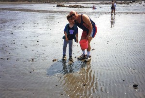 Alexander with his son in Cape Cod